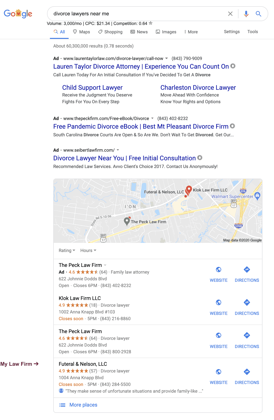 Lawyer SEO and the Google Local 3-Pack